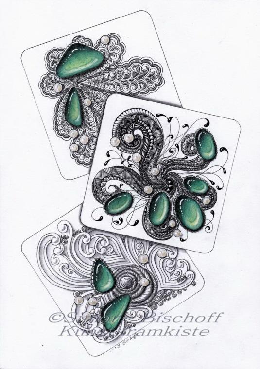"""""""Perlen und Steine"""" - links - Galerie der anderen Art Aue"""